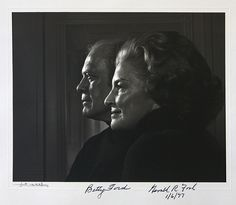 U.S. President Gerald R. Ford and first lady Betty Ford 1977 by Yousuf Karsh