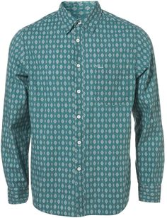 Green Shield Pattern Shirt $38.00 thestylecure.com
