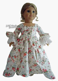 Beautiful-Colonial-Gown-Shoes-for-American-Girl-Doll-Clothes-Elizabeth-Felicity