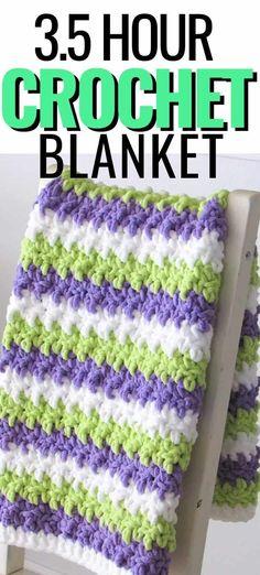 Chunky Crochet Blanket Pattern Free, Crochet Baby Blanket Free Pattern, Crochet Quilt, Crochet Blanket Patterns, Crochet Blankets, Crochet Afghans, Blanket Yarn, Baby Afghans, Knitted Throws