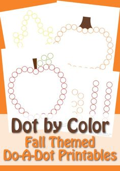 150+ Do-A-Dot Printable Worksheet Coloring Pages For Preschool - Fall