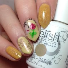 Lauren's enchanting masterpiece using her gifted Gelish Soak-Off Gel Polish in Days In The Sun from the #BeautyandtheBeast 2017 Collection is truly mesmerizing! See this salon-exclusive shade up close by clicking through. This look was created using products gifted to the artist free of charge as part of the Preen.Me VIP program together with Gelish.