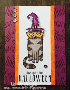 Create with Liz: Purr-fect Halloween August SOTM Artwork