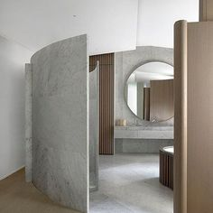 Interior space sculpted into a work of art