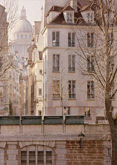 Thierry Duval  (b.1968)  —  La rue de Bievre et le Pantheon (732x1036)