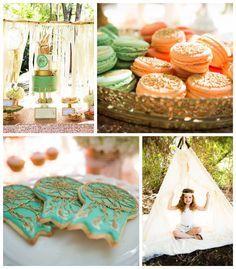 Pastel Dream Catcher themed birthday party via Kara's Party Ideas KarasPartyIdeas.com Printables, cake, invitation, decor, cupcakes, recipes and more! #dreamcatcher #boho #nativeamericanparty