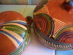 Vintage Mexican Pottery Bowls & Lids Tlaquepaque by 40sZen