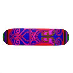 Skateboard design inspired by Norse Viking Hammer weapons in their culture.  See more on Zazzle shop WitchesHammer