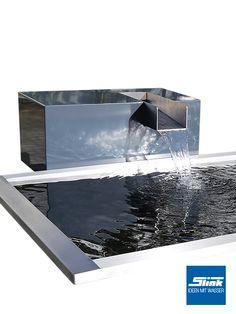 Der Wasserfall Gartenbrunnen Kjaer Aus Aluminium Mit Einem Hochwertigen  Edelstahl Wasserauslauf. Ideal Für