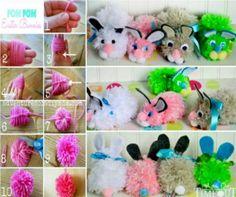 Pom Pom Easter Bunny wonderfuldiy Wonderful DIY Easy Pom Pom Bunny