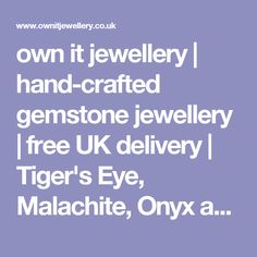 own it jewellery | hand-crafted gemstone jewellery | free UK delivery | Tiger's Eye, Malachite, Onyx and Jade charm bracelet
