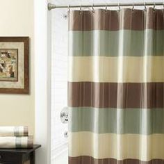 Shower Curtains, Fabric, Extra Long, Shower, Hookless: The Home Decorating Company