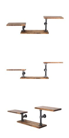 :: THE PIPE :: Pipe Furniture, Industrial Furniture, Wood Shelves, Diy Shelving, Steampunk Furniture, Small Laundry Rooms, Industrial House, Home And Living, Rustic Decor