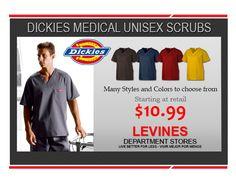 Dickies Unisex scrubs starting at $10.99