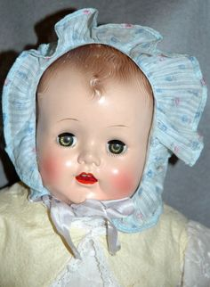 Effanbee Baby Doll open mouth /magic skin 20""