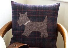 Make+Scotty+Dog+Appliqué+Cushions+With+Trendy+Tweed+Fabric prima.co.uk