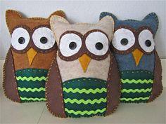 DIY Tutorial: DIY Felt Animals / DIY Trio of Felt Owls - Bead&Cord
