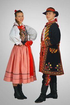Strój Lachów sądeckich-costume from Sącz region Folk Clothing, Beautiful Costumes, Folk Costume, People Around The World, Wearable Art, Ukraine, Russia, Polish, Dance
