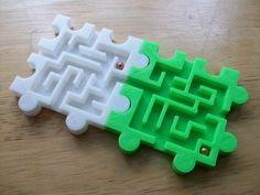 3D Modular Snap Puzzle Mazes by MandyRae - Thingiverse #3dprintertoys