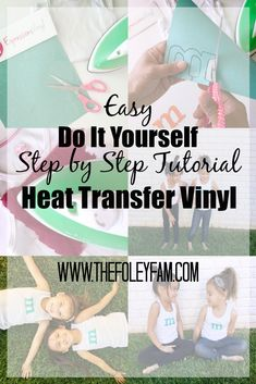 How to Use Glitter Heat Transfer Vinyl - Do It Yourself Personalized Shirts - Glitter Heat Transfer Vinyl Step by Step Tutorial with Pictures
