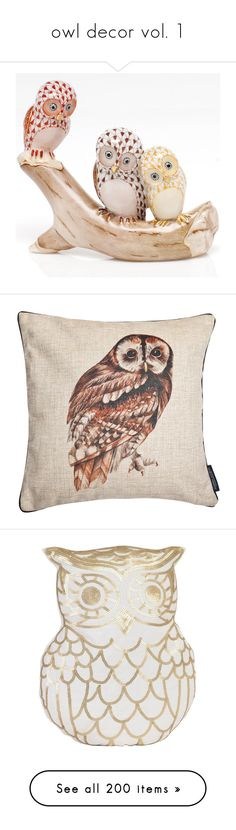 """""""owl decor vol. 1"""" by laura-nicole-cantu ❤ liked on Polyvore featuring home, home decor, decor, fillers, furniture, white owl home decor, white home decor, herend, owl home decor and owl home accessories"""