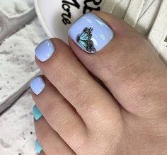 Toe Nail Designs, Mani Pedi, Toe Nails, Turquoise, Beauty, Ideas, Pedicures, Short Nails, Nail Decorations