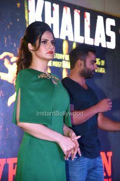 """Zarine Khan in Green Dress at """"Khallaas"""" song launch"""
