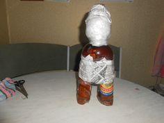 как сделать гнома из пластиковой бутылки пошаговая инструкция - фото 11