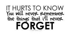 I do remember....