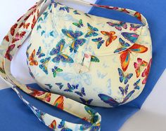 Butterfly bag for girls, Colourful cross body butterfly bag, Cream bag