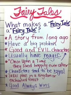 Fairy Tales anchor chart by alberta