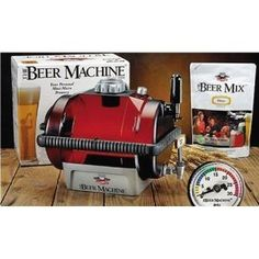 Beer Machine, Macchina per la Birra. In 7-10 giorni produce circa 10 litri di birra. Una confezione di miscela premium inclusa nella confezione. La macchina si separa in 2 unità per facilitarne la pulizia.