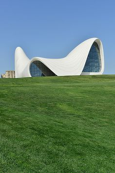 Credit: Giuseppe Cacace/Getty Images One of Hadid's current projects nearing completion: the Heydar Aliyev Centre in Baku, Azerbaijan