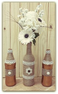 I have a lace and burlap obsession...