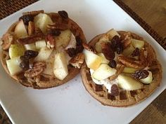 Apple Cinnamon Waffle Breakfast- healthy choice
