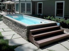 This is the Best Above Ground Pool Ideas On a Budget we ever seen. Such a pool is, though, a small pricey to install. Naturally, you may also opt to have a pool having a more unusual form . Small Backyard Pools, Small Pools, Swimming Pools Backyard, Pool Landscaping, Outdoor Pool, Pool Spa, Small Backyards, Small Patio, Oberirdische Pools