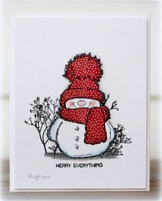 """Image result for Card making stamp """"Snowy"""" the snowman"""