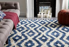 Alison Rug in Blue from One Kings Lane