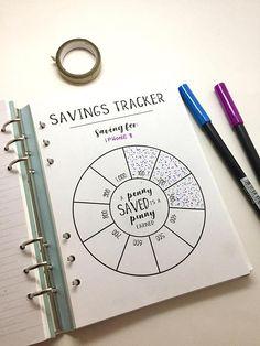 Savings Tracker Circle Tracker A5 Filofax Savings