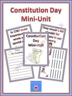 FREE download - Constitution Day Unit 27 pages