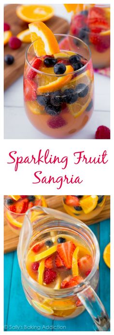 A crowd-pleasing bubbly, fruity white sangria that is perfect for any occasion!