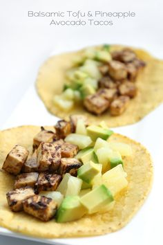 Balsamic Tofu & Pineapple Avocado Tacos