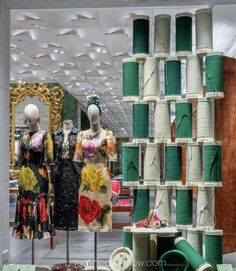 "DOLCE&GABBANA, Via Montenapoleone, Milan, Italy, ""Needle and Thread"", pinned by Ton van der Veer"
