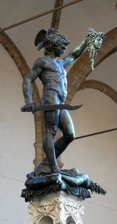 ❤ - Benvenuto Cellini's statue of Perseus (1545/1554). Loggia dei Lanzi, Firenzi, Italy.