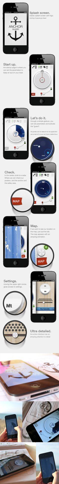 Anchor Guard (for iOS) by Marco Nenzi, via Behance | #uxinspiration