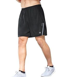 Champion Men's Performax Marathon Running Shorts, Black/Stealth, X-Large. Pull-on running short featuring mesh liner brief and reflective Champion logo. Running Wear, Running Pants, Sport Shorts, Mens Running, Men's Shorts, Marathon Running, Workout Shorts, Mens Fitness, Sports