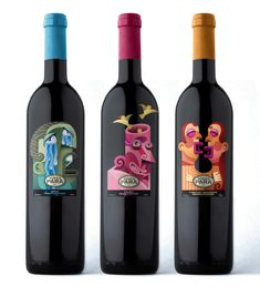 Etiquetas de Vino Para - Mauco Sosa off the wall but cute #wine #packaging PD