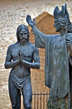 Baptism of Clovis, Basilique Saint-Rémi — Reims, Champagne-Ardenne, France