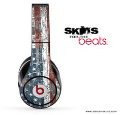 USA Flag Vintage Skin for the Beats by Dre