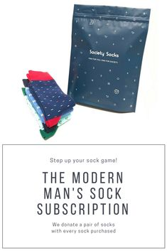 Society Socks is a men's sock company with a social cause. With every pair of socks that you purchase, another pair of socks will be donated to a local charity. Join the movement.